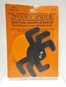 Vtg-Hallmark-Halloween-Spooky-Spider-Honeycomb-Streamer-Decoration-NIP-Boo-Bazar