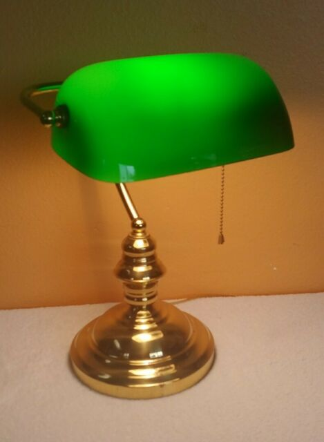 Replacement Green Glass Bankers Lamp, Replacement Glass Shade For Bankers Lamp
