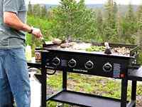 Gas Grill Flat Top Griddle 4 Burner Cooktop Portable Bbq Cooking Propane Gas
