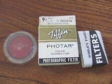 Vintage Tiffen Photar No 25 Red 1 lens filter