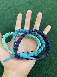USED-Rastaclat-Bracelet-3-Pack-Bundle-Green-Blue-Purple