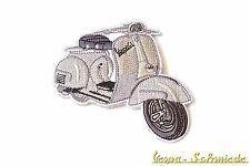 """VESPA Aufnäher """"150 GL"""" - Silber - V50 150GL 160 GS 180 SS Grau Piaggio Patch"""