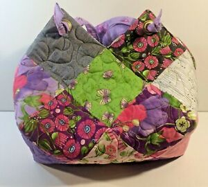 Moda-Charm-Square-Patchwork-Purse-Quilted-Bag-Sweet-Pea-amp-Lilly-13-034-x14-034-13-034-Drop