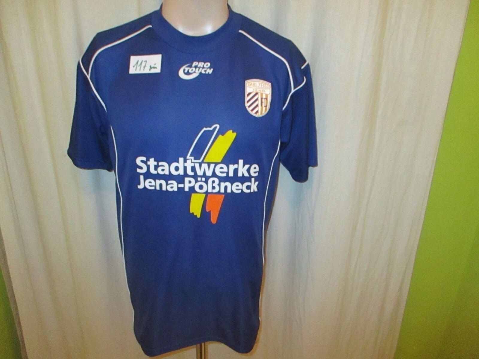 FC Carl + Zeiss Jena Pro Touch Matchworn Heim Trikot 2004/05 + Carl Nr.5 Maul Gr.M- L 8467c7