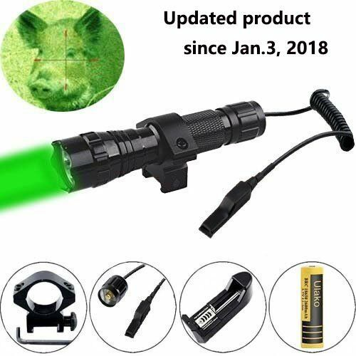 HOG NIGHT HUNT NEW VARMINT YARDS COYOTE GREEN LED HUNTING LIGHT KIT 500