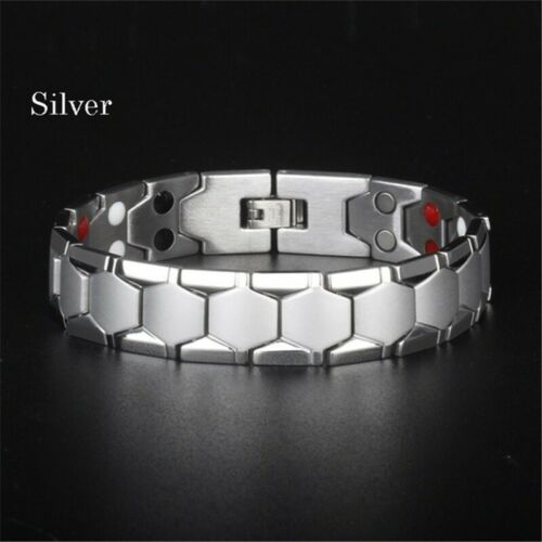 Magnetic Therapy Energy Bracelet Stainless Steel Pain Relief Weight Loss Bangle
