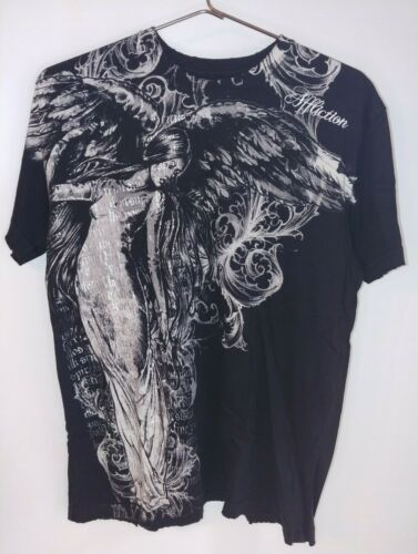 Lot of 4 Mens Affliction Tee Shirts, large