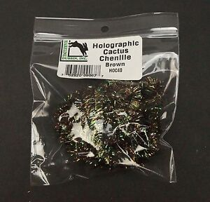Hareline Large Size Black Cactus Chenille Fly Tying Material