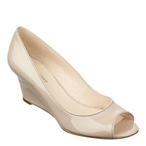 kid save up to 60% exclusive range Details about Brand New Nine West Natural Synthetic Relaxxin Peep Toe  Wedges 5M