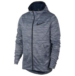 Nwt Herren Nike Scheinwerfer Full Zip Kapuzenpulli Größe Wählen Marineblau