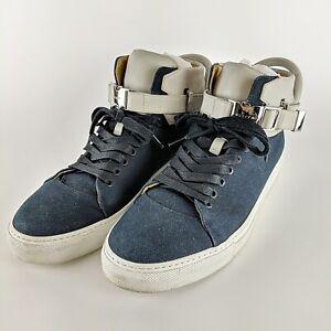 BUSCEMI-Ronnie-Fieg-110MM-Blue-amp-Grey-Italian-Designer-Sneakers-Size-45