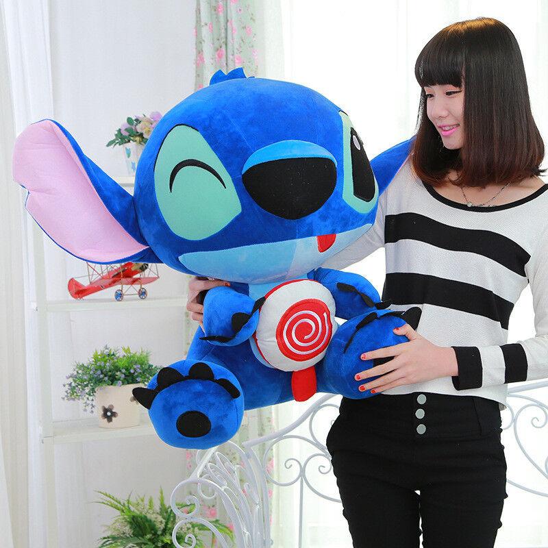 19'' Giant Hung Lilo & Stitch Toy Stuffed Plush Soft Doll Pillow Valentine Gifts