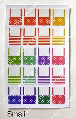 4 sheets cute large or small colourful polka doe striped index label sticker