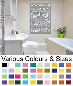 Perfect Image Is Loading Bathroom Wall Picture Bathroom Rules Wall Art Canvas