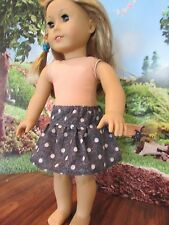 "homemade 18"" american girl/madame alexander polka dot denim skirt doll clothes"