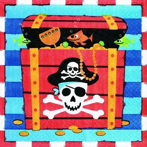 Pirate-Party-Supplies-Treasure-Lunch-Napkin-Serviettes-2-Ply-16-Pack