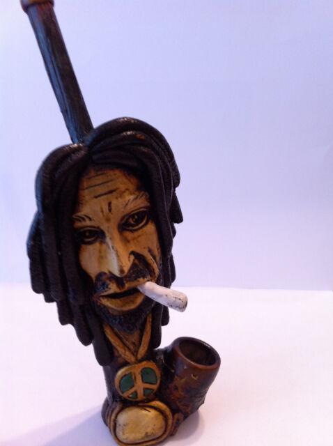 HANDMADE TOBACCO PIPE Smoking Bob Marley  Style.