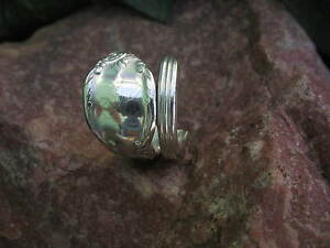 1847 Enchantment Antique Spoon Ring Size 6 H Initial R214 Western Skies Silver