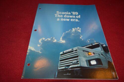 Scania Truck For 1989 Dealer/'s Brochure YABE12
