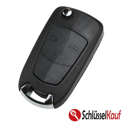 Klappschlüssel 2 Tasten Gehäuse NEU passend für Opel Vectra Astra Corsa Zafira