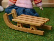 Pequeño trineo de madera, casa de muñecas en miniatura accesorios, Navidad Trineo De Navidad