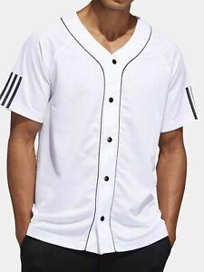 Details about Adidas Athletics Sport Baseball Jersey Men's XL- White/ Black DU2547
