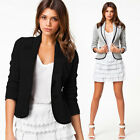 Fashion Women Long Sleeve Button Casual Blazer Suit Jacket Coat Outwear Tops