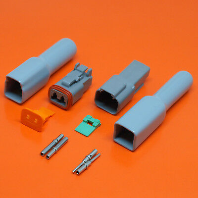 Deutsch DT Series 2 Pin Plug /& Receptacle Connector Kits With Optional Boots