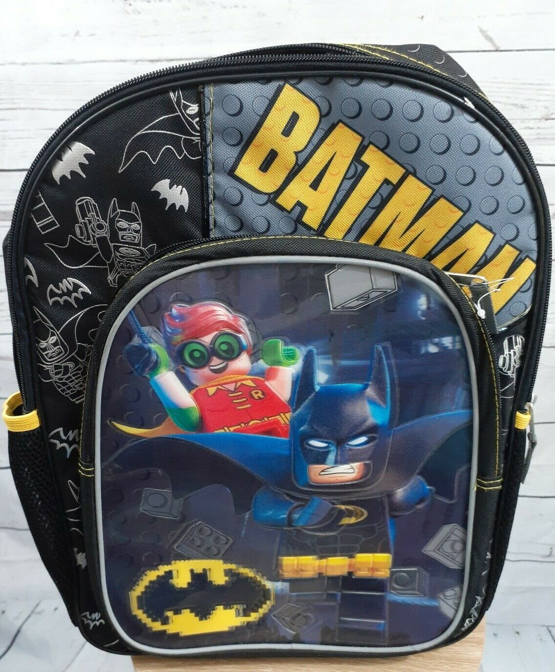 """Lego Batman 16/"""" Backpack with Reflective Strips for Night Warner Brothers Kids"""