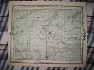 Antique 1875 Clarke County Glenwood Denison Hastings Malvern
