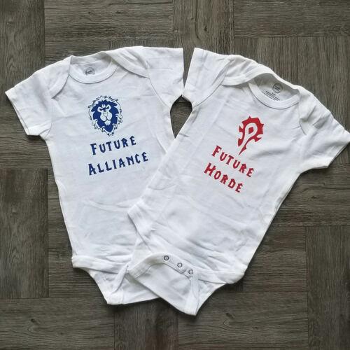 World of Warcraft Baby Bodysuit WOW Horde Alliance