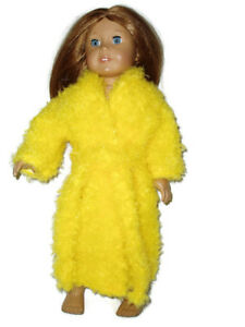 Yellow-Fuzzy-Robe-fits-American-Girl-18-inch-doll-clothes