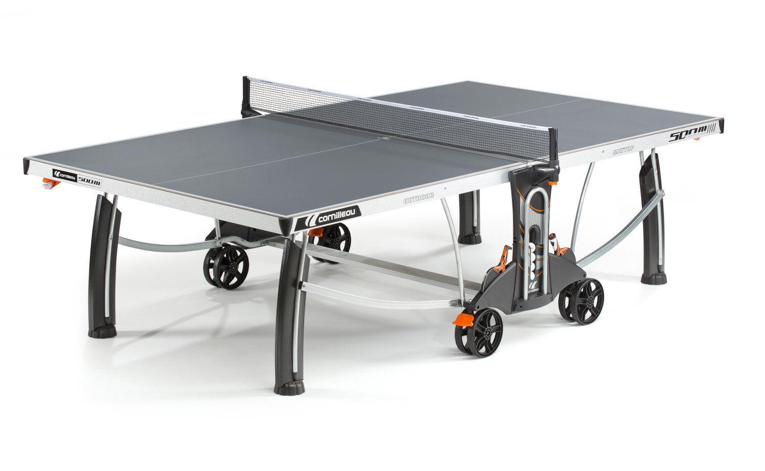 Cornilleau Tischtennisplatte Sport 500 500 500 M Crotver Outdoor grau mit Netz e64110