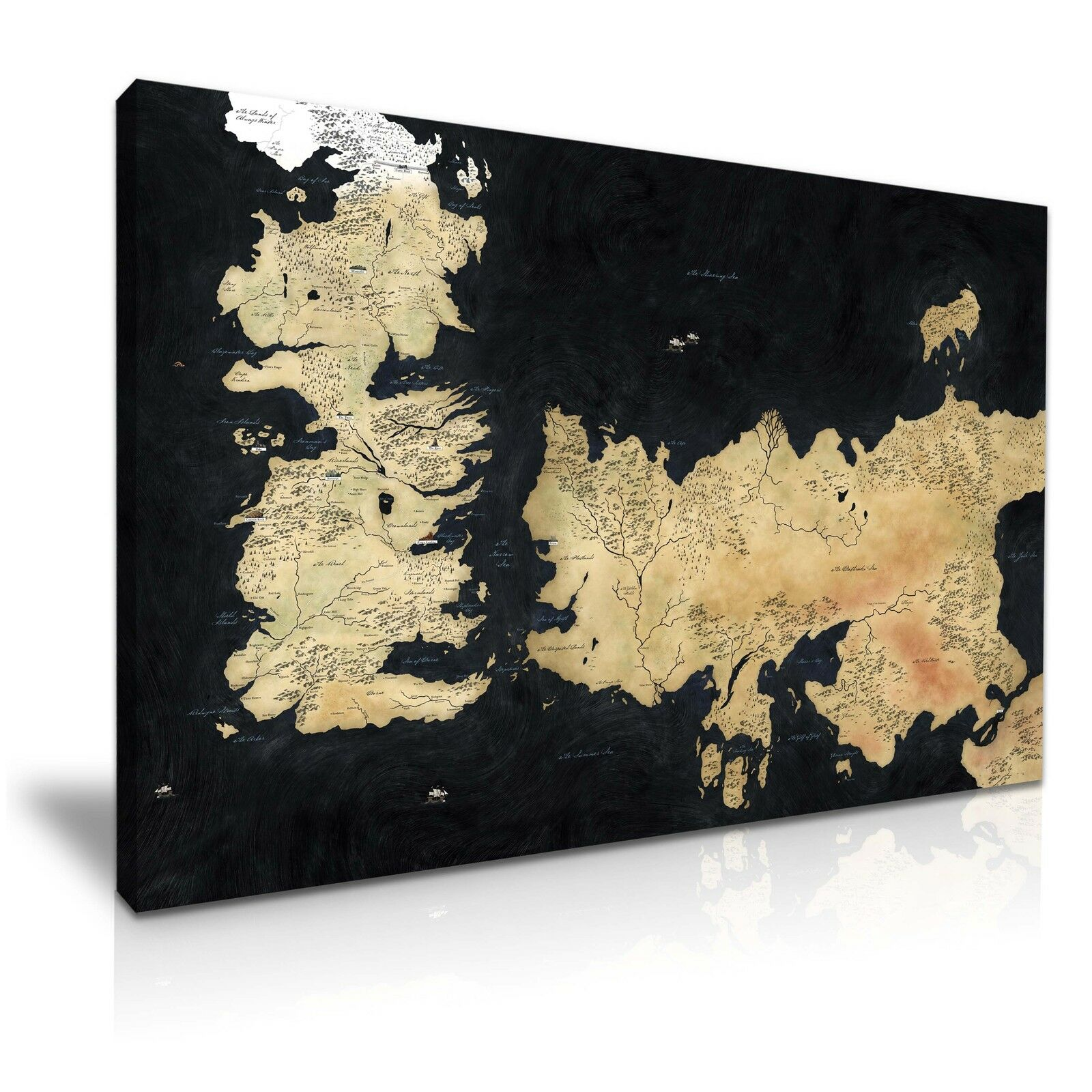 Game of Thrones Thrones Thrones Map Canvas Wall Art Home Office Deco ce281f