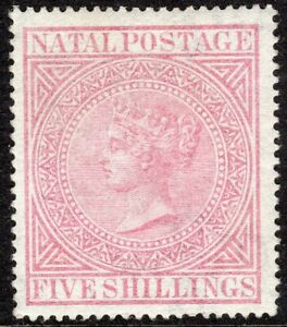 South-Africa-Natal-1874-rose-5-crown-CC-perf-14-mint-SG72