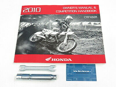 Owner Manual & Competition Handbook 10 A/CE Honda 2010 CRF450R ...