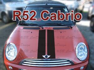 Viper Stripes Sticker Rally Stripes Fbmw Mini Cooper R52 Cabriolet