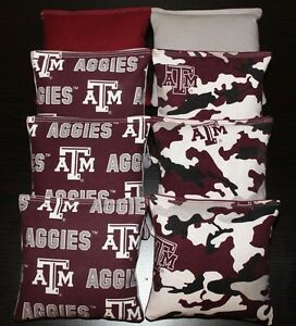 Awe Inspiring Texas Am University Aggies Cornhole Bean Bags Camo Tailgate Ibusinesslaw Wood Chair Design Ideas Ibusinesslaworg