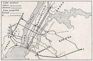 D2355-New-York-Progetto-linee-ferroviarie-Turner-Carta-geografica-1925-map