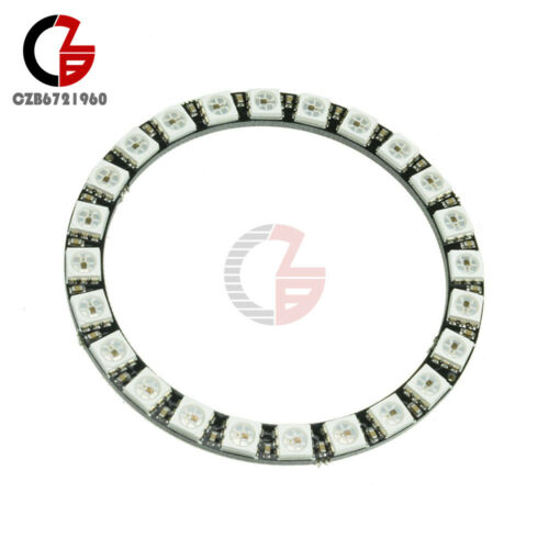 24 Bit WS2812B 5050 RGB LED Ring RGB LED with Integrated Driver 65mm for Arduino