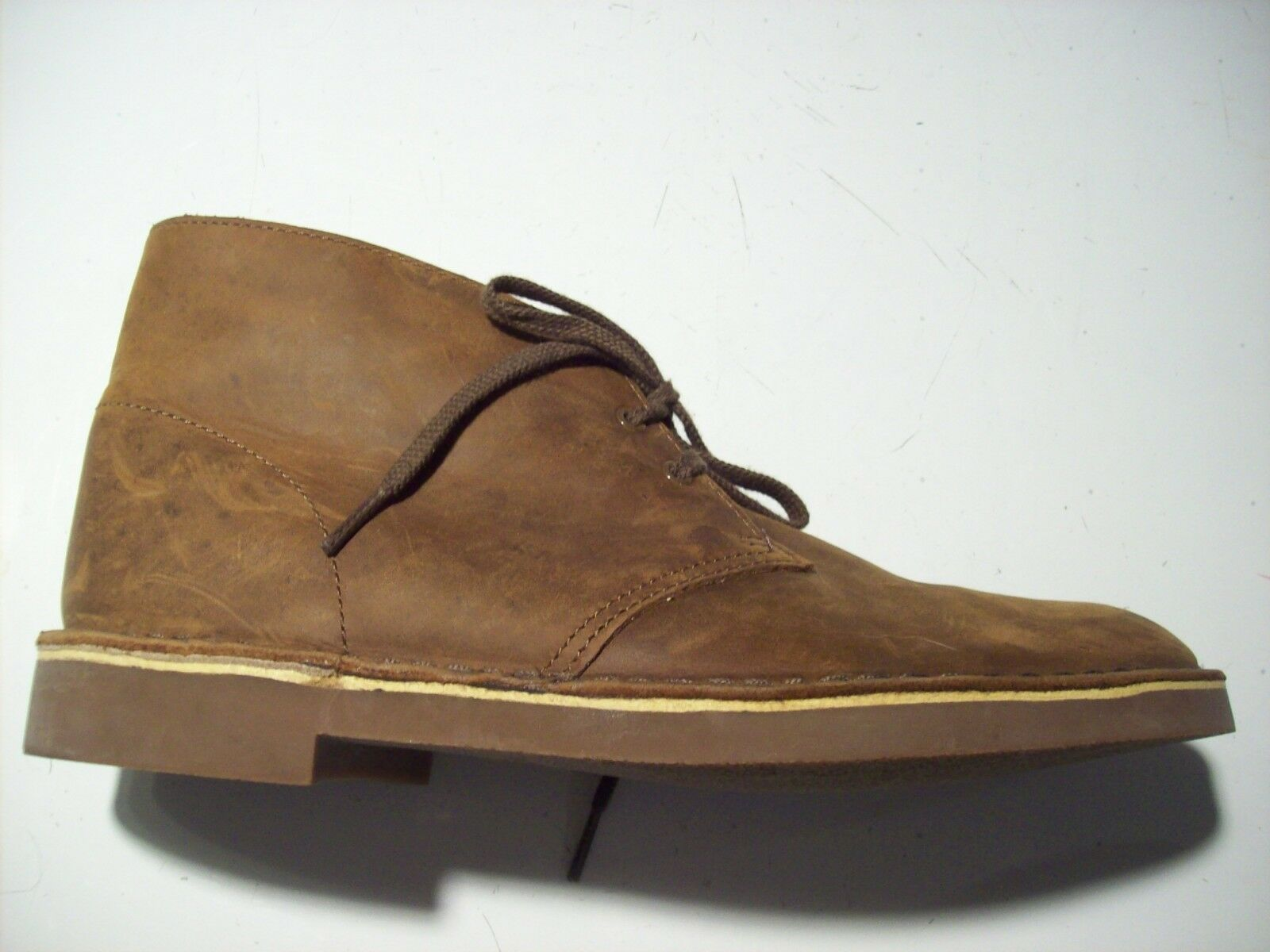 Clarks Bushacre Bushacre Clarks Chukka Brown Leather Oxford Ankle Boots Size 8 @ cLOSeT 26082286 17c054