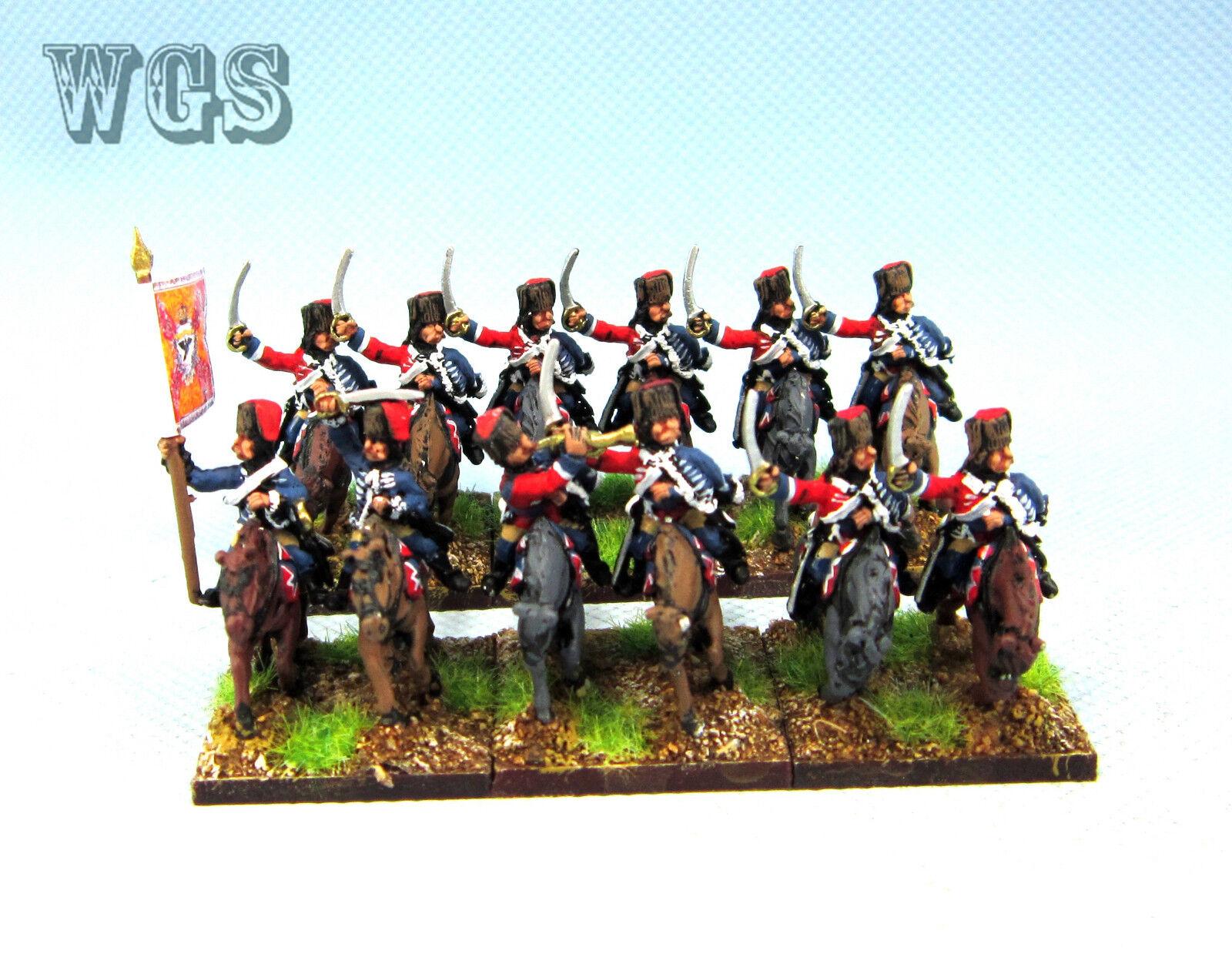 15mm SYW Seven Years War WGS målade preussiska Hussarkavalleri (12 siffror) PB9