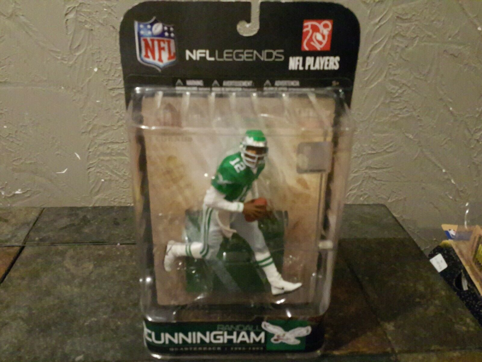 McFarlane 2009 Randall Cunningham Philadelphia Eagles NFL Legends series 5 rare