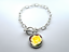 Yellow Rose Flower Earrings Necklace Bracelet Keyring Brooch Photo Art Jewellery