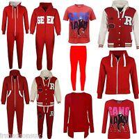 Kids Girls Boys RED NOSE DAY Onesie Hoodie Jacket T Shirt Legging Cardigan Top
