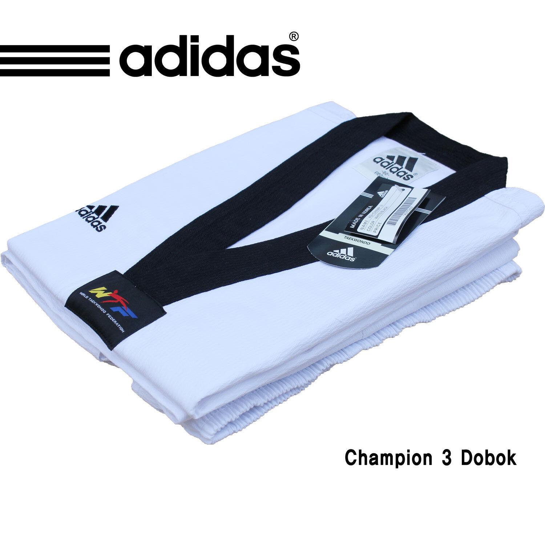 Adidas WTF Uniform Champ III ADICHAMP 3 Uniform Climalite  Taekwondo Dobok Free  online store