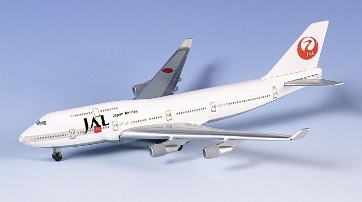 Herpa 500623 jal japan airlines - boeing 747 - 400 mit 1   500 skala druckguss new in box