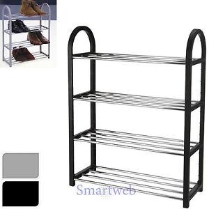 schuhregal 4 stufen schuhschrank schuhgarderobe schmal. Black Bedroom Furniture Sets. Home Design Ideas