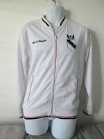 Pull & Bear - White Zip Up Nylon Jacket Size Medium
