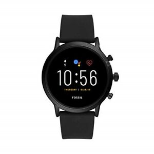 Fossil Gen 5 Carlyle HR Heart Rate Touchscreen Smartwatch Black Silicone FTW4025